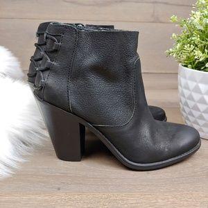Jessica Simpson Black Nubuck Leather Booties